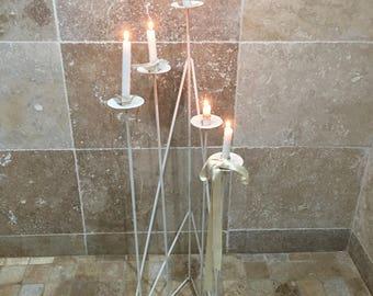 Candelabra / Extra tall 5 stem shabby candelabra