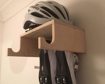 Superbe Simple Handmade Birch Ply Wooden Bike Rack Wall Mounted Hook Bike Shelf  Designed For Simple With Bike Helmet Storage.