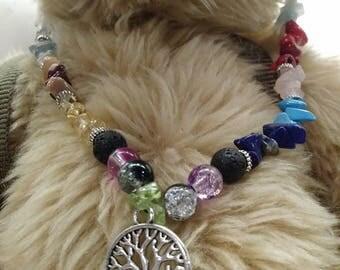 Healing Chakra Tree of Life necklace