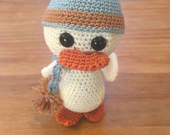White Crochet Amigurumi Duck
