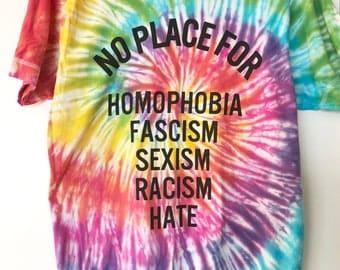 Tie Dye Peace & Love t-shirt MEDIUM