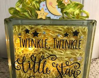 Twinkle, Twinkle, Little Star - Glass Glow Box