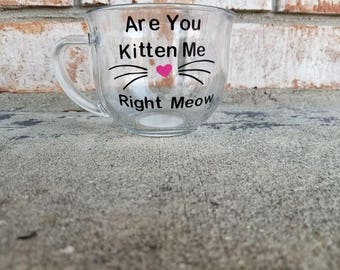 Are You Kitten Me Right Meow Tea Cup