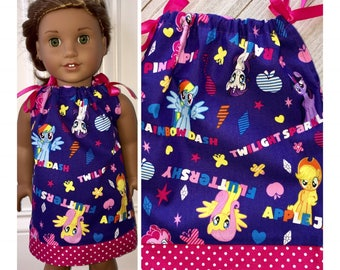 "18"" Doll Clothes/Doll Pillowcase Dress/American Girl Dress/My Little Pony"