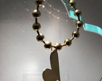 Heart military chain bracelet