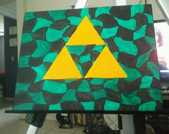 Legend of Zelda Triforce painting on canvas