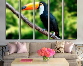 Tucan Wall Art Tucan Canvas Print Tucan Large Wall Decor Tucan Canvas Art Tucan Painting Tucan Poster Print Tucan Home Decor Gift for She