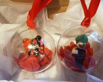 Harley And Joker Valentines Day baubles