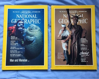National Geographic Magazines: September, November 1984