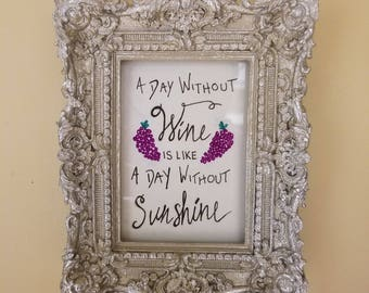 Framed Hand-lettered Quotes