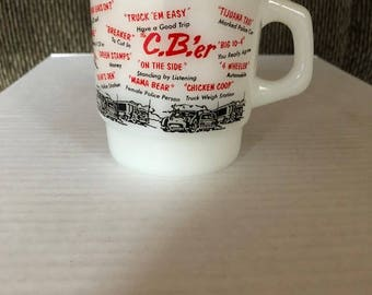 Fire-King C.B.'er Coffee Mug