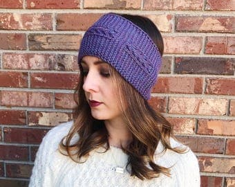 Wide Cable Knit Ear Warmer   Cable Knit Headband   Knit Headband   Warm Headwrap   Winter Headband   Ready to Ship   AuntBarbsBands