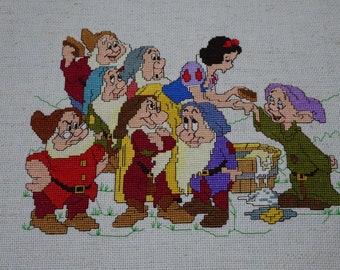 Snow White and the Seven Dwarfs Cross Stitch