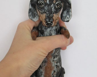 Art doll dog dachshund Toby