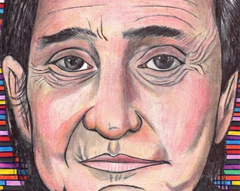 Johnny cash ,PRINT drawing