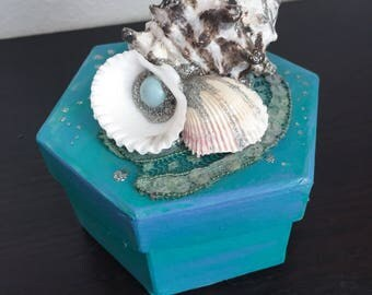Aquamarine -  Fantasy Mermaid Treasure Box