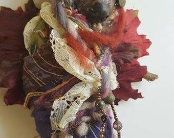 Totem animal, bear spirit doll, Nature spirit, Polymer doll,  Art doll, Serenity art, Primitive Forest, Spirit Art doll, Kitchen Witch OOAK