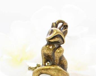 Fox Pendant Necklace Foxy - Bronze Fox Jewelry - Fox Necklace - Woodland Fox - Animal Necklace - Woodland Animal Necklace