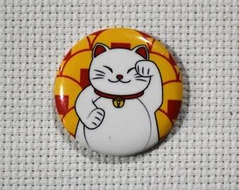 Maneki Neko Fortune Kitty (5 styles) Small Button Needleminders