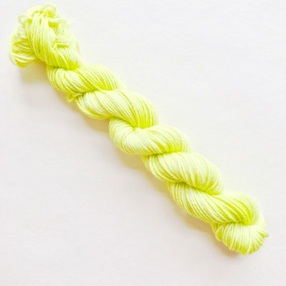LIMELIGHT hand dyed yarn mini skein
