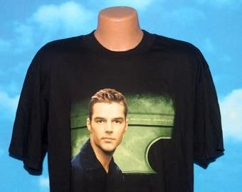 Ricky Martin Black XL Tshirt Vintage 1990s