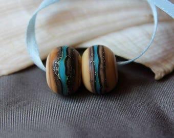 Elizabeth Creations WILD RIVER artisan matching lampwork beads SRA