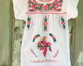 Girls Mexican Peasant Blouse NWOT, Size 8, Embroidered Kids