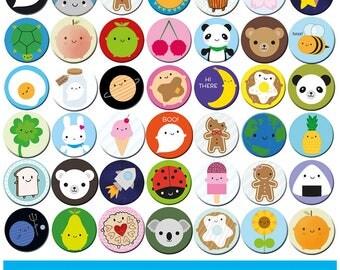 Pick and Mix Kawaii Fridge Magnets - choose any 1, 2 or 4 designs