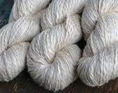 Linen mix yarn -- cream