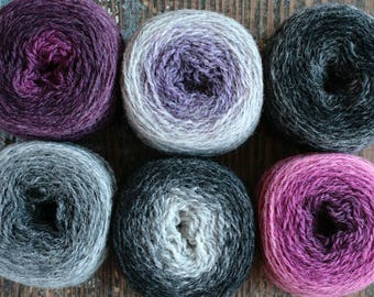 Pure wool knitting yarn - 6 x 36 g