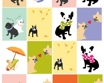 gift tags french bulldog collection silly to sublime