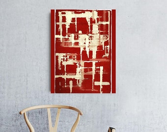 Red Abstract Canvas, Red Canvas Print, Canvas Art, Deep Red, Modern Art Print, Abstract Canvas, Modern Art, Canvas Print, Red Canvas Art