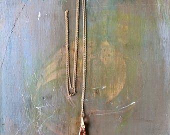 JASPER // Red Jasper Pendant Necklace