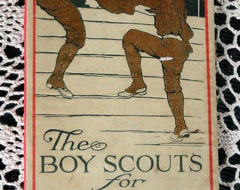 Handbound Artist Journal from Vintage Book Boy Scouts for Uncle Sam