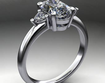 faith ring – 1.8 carat oval ZAYA moissanite engagement ring, oval moissanite engagement ring