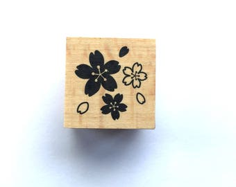 New Year Rubber Stamp -  Cherry Blossom Stamp-  Traditional Japanese Rubber Stamp - Small Size