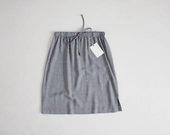 drawstring skirt | micro houndstooth skirt | 90s minimalist skirt