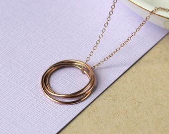 Handmade Nest Necklace - Rose Gold Fill | birthday gift | simple gold jewellery | 30th birthday present | anniversary gift