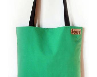 ON SALE Into the Wind // Kelly Green and  Wool Tartan ( Plaid) Tote bag