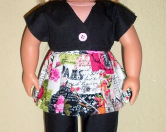Crop Jacket Outfit---Girl Doll clothes---doll dress