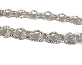 Silver Plated Chain, 18 Inches of Chain, Beautiful Specialty Rolo Chain, Silver Plated Chain for Making Jewelry (F-1e)