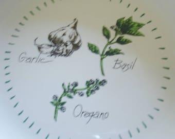 Home Living Spaghetti 2 qt Serving Bowl w Oregano,Basil,Garlic  By Ragu Rewards 1980s/