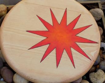 Starburst toy wooden shield