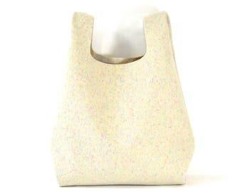 Bonnie - Handmade Felted Wool & Leather Shopper Carrier Bag