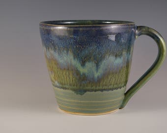 Pottery Mug in Blue and Green