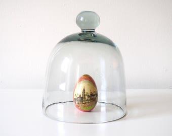 Clear Glass Vintage Bell Jar, Medium