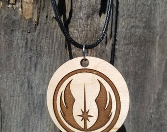Star Wars Jedi inspired pendant Necklace