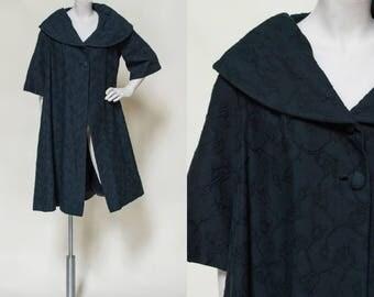 1960s Swing Coat --- Vintage Black Dress Jacket