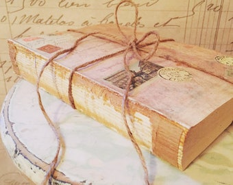 Old Rustic Book for Decor, PRICE PER BOOK, French Country, Trending Decor, Rustic Wedding, Fall Book Decor, Uncovered Books, Stackable Books