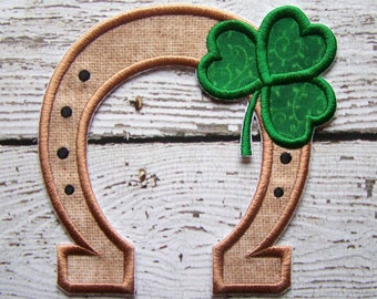 Lucky Horseshoe Iron On Or Sew On Applique